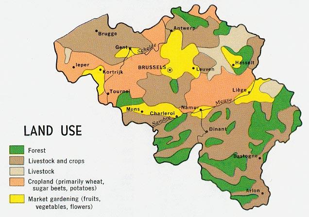 Mapa del Uso de la Tierra de Bélgica
