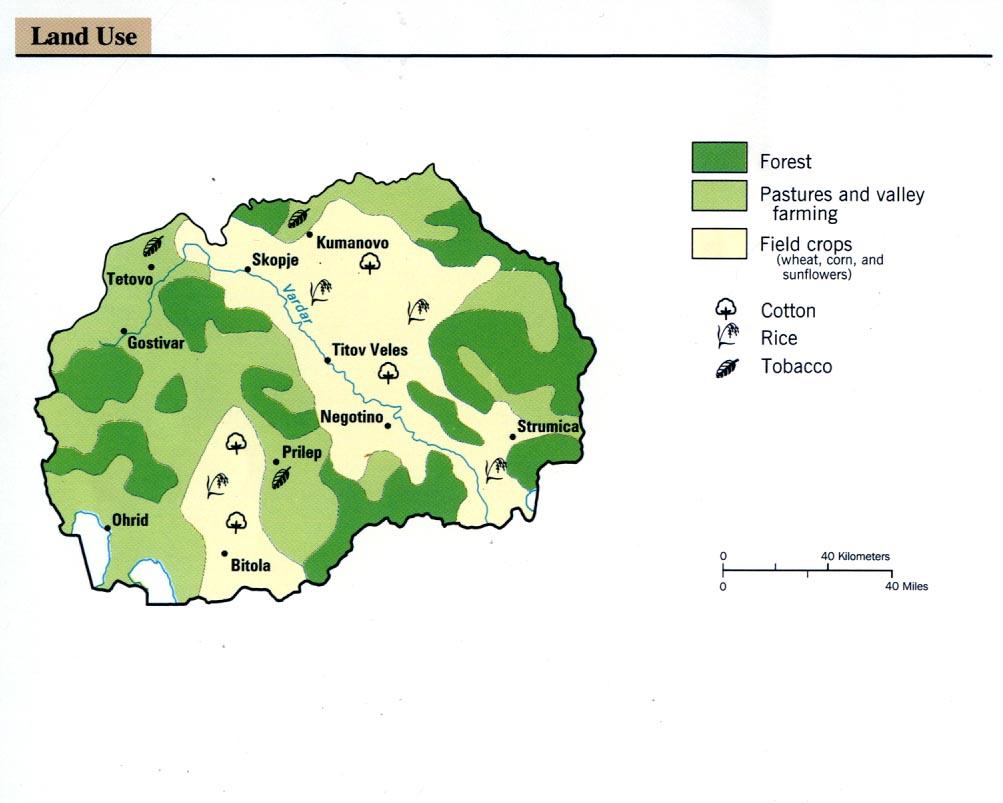 Mapa del Uso de la Tierra de Macedonia