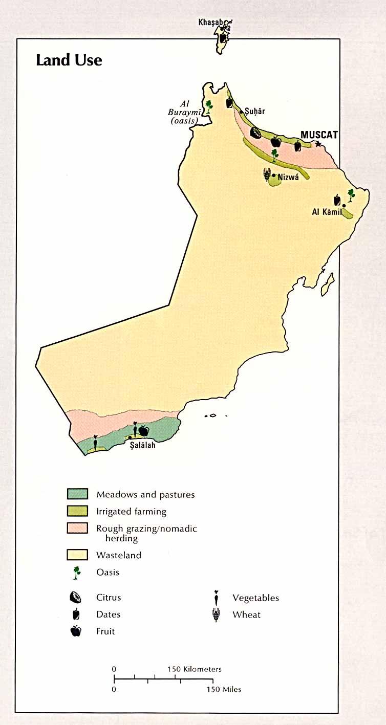 Mapa del Uso de la Tierra de Omán