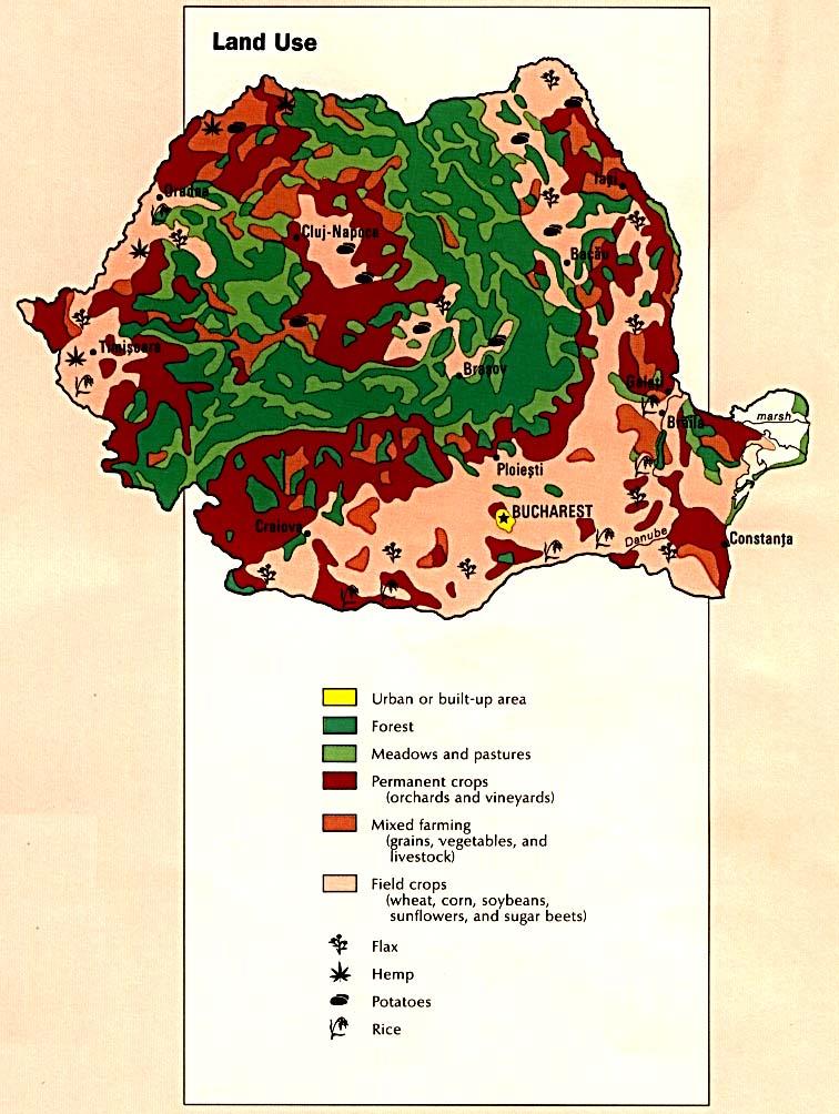 Mapa del Uso de la Tierra de Rumania