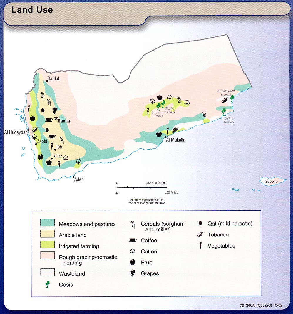 Mapa del Uso de la Tierra de Yemen