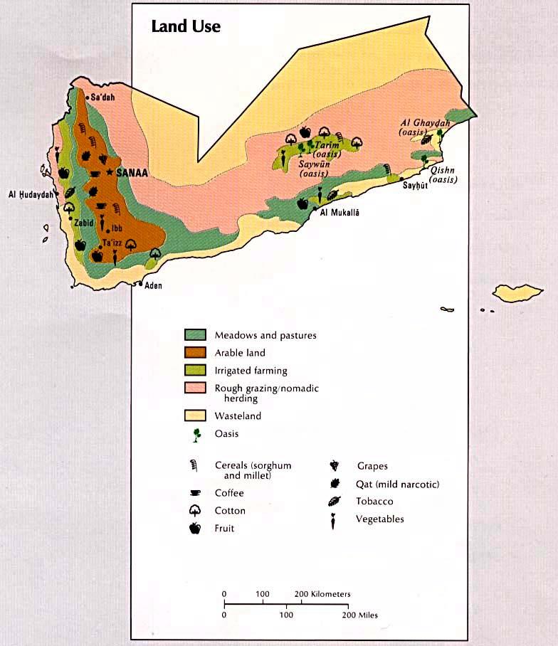 Yemen Land Use Map