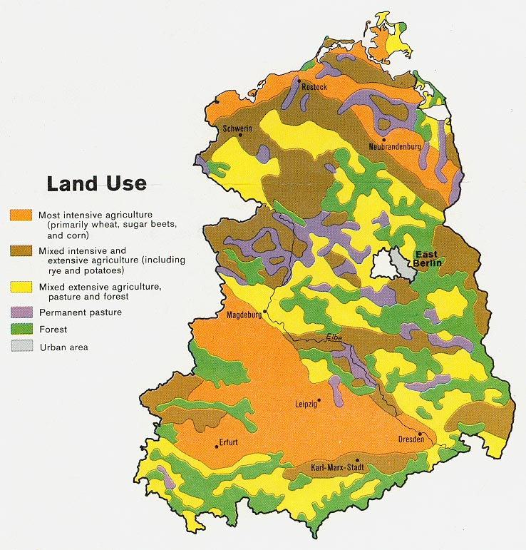 Former East Germany Land Use Map