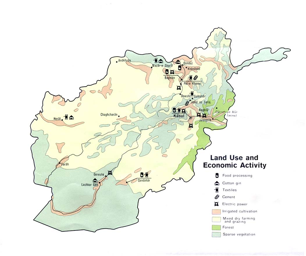 Maps of Afghanistan Land Use and Economic Activity Map ...