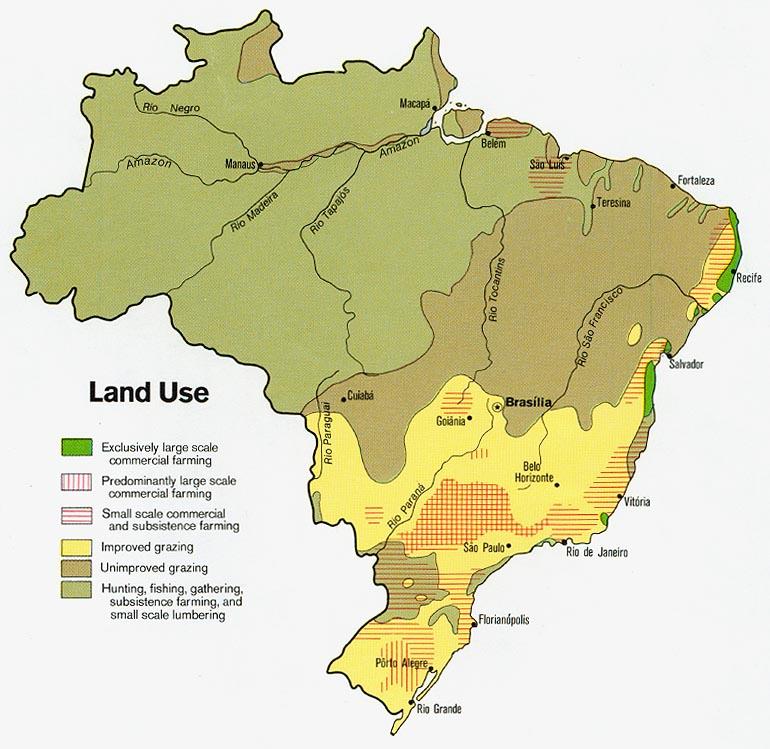 Mapa del Uso del Suelo Brasil