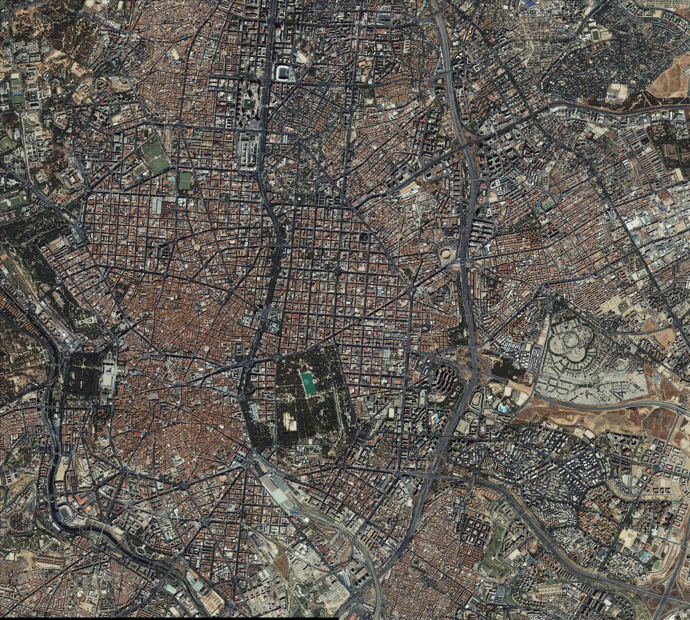 Mapa satelital de Madrid