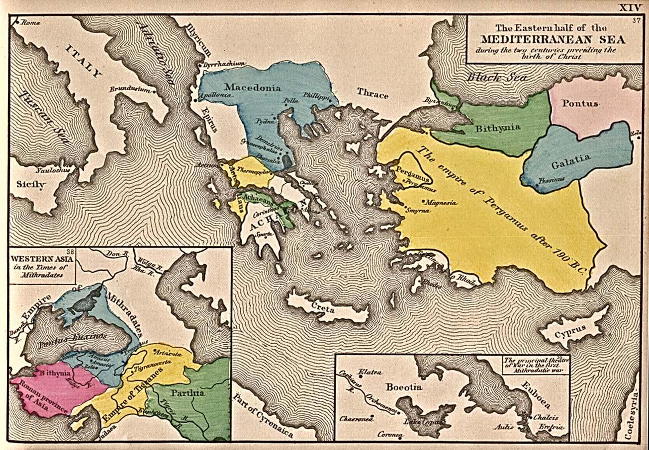 Mar Mediterráneo Oriental 200 adC
