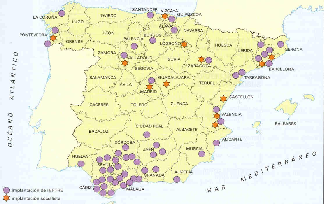 Movimiento obrero en España 1880
