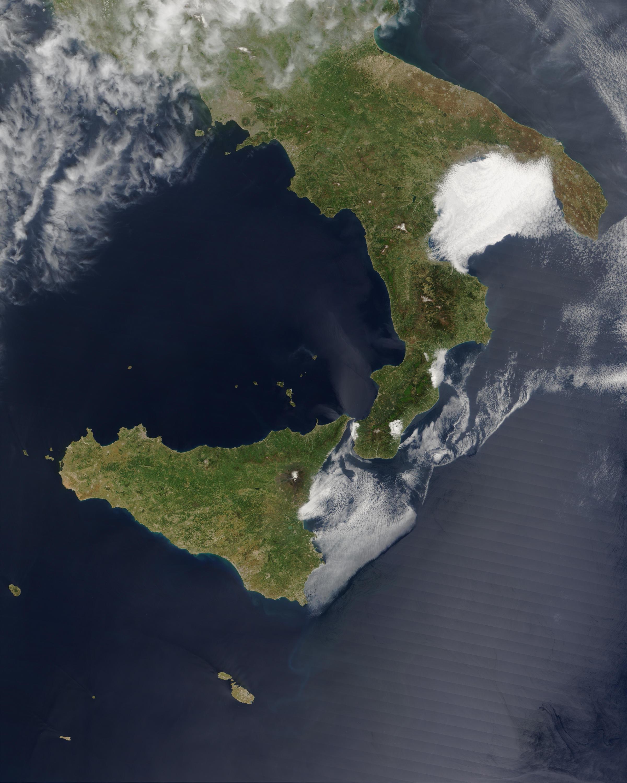 Niebla en el Golfo di Taranto