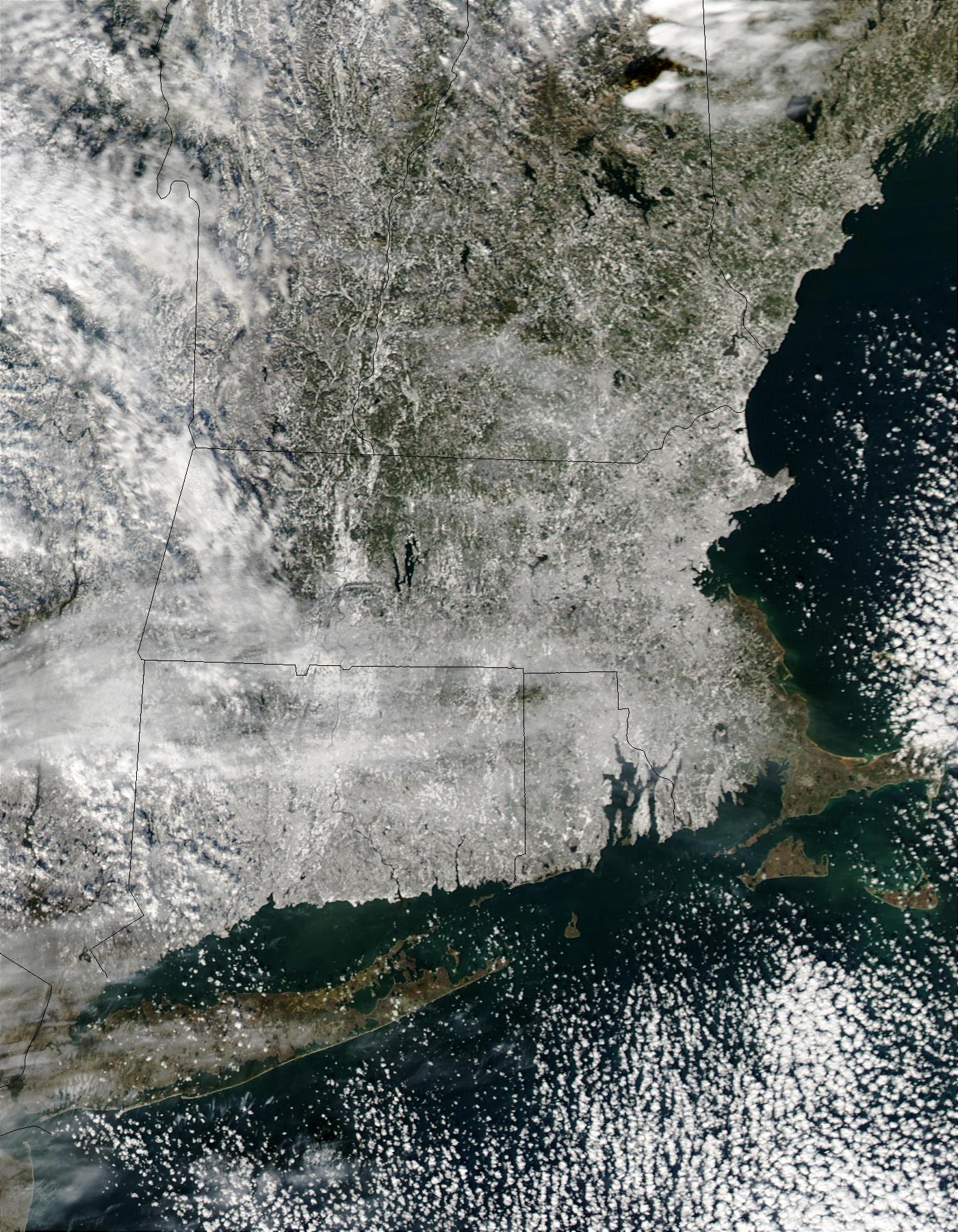 Nieve en Nueva Inglaterra