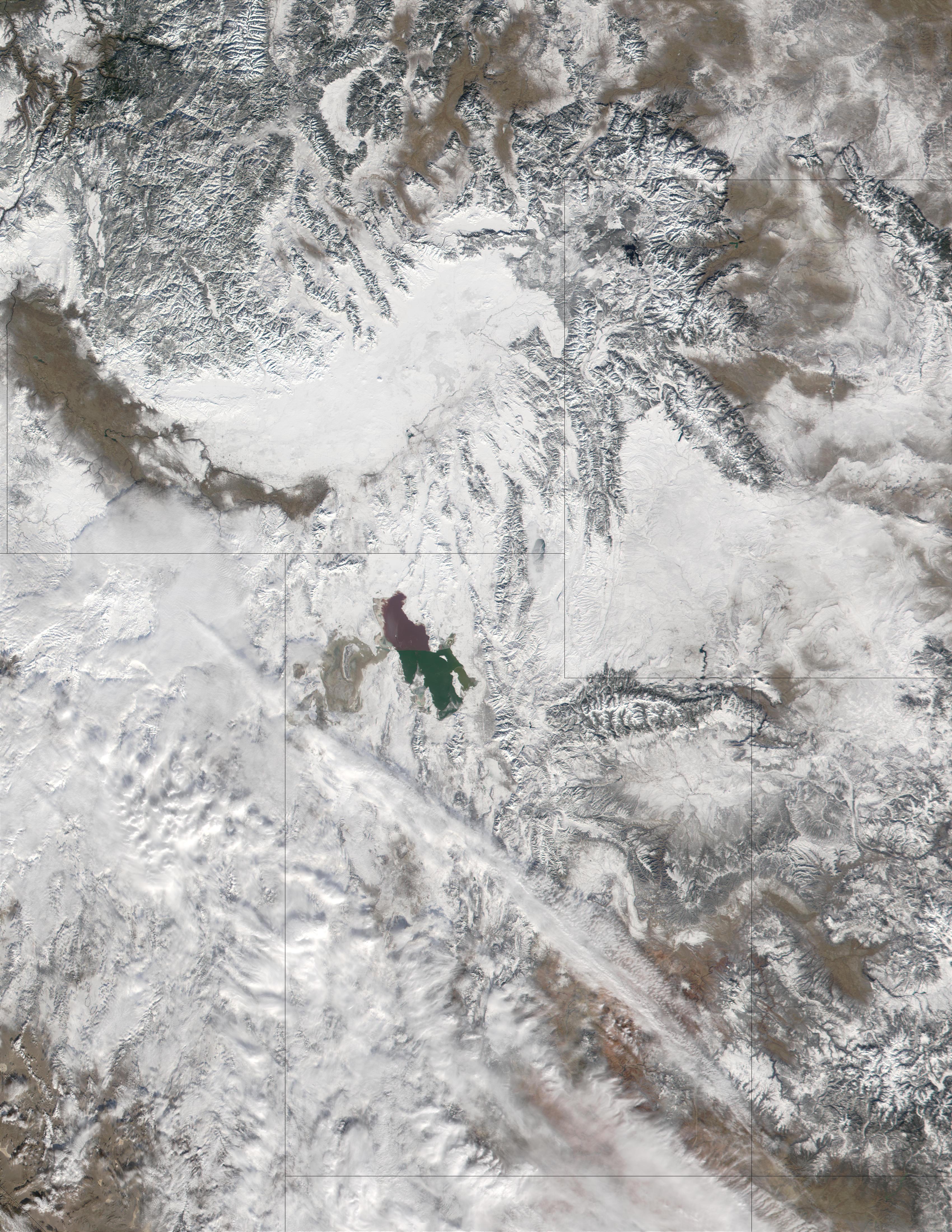 Nieve en Utah y Estados Unidos occidental