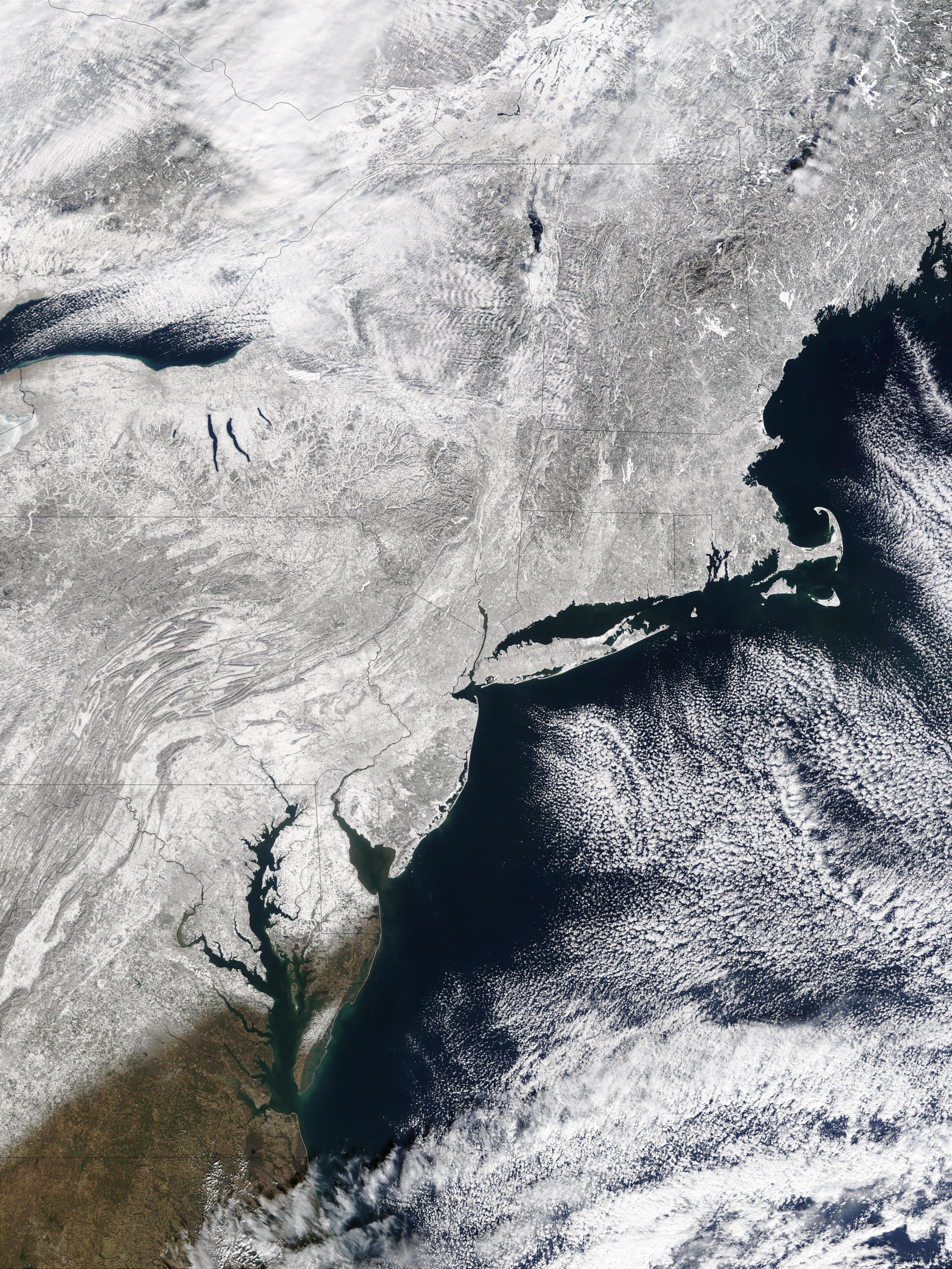 Nieve en al noreste de Estados Unidos