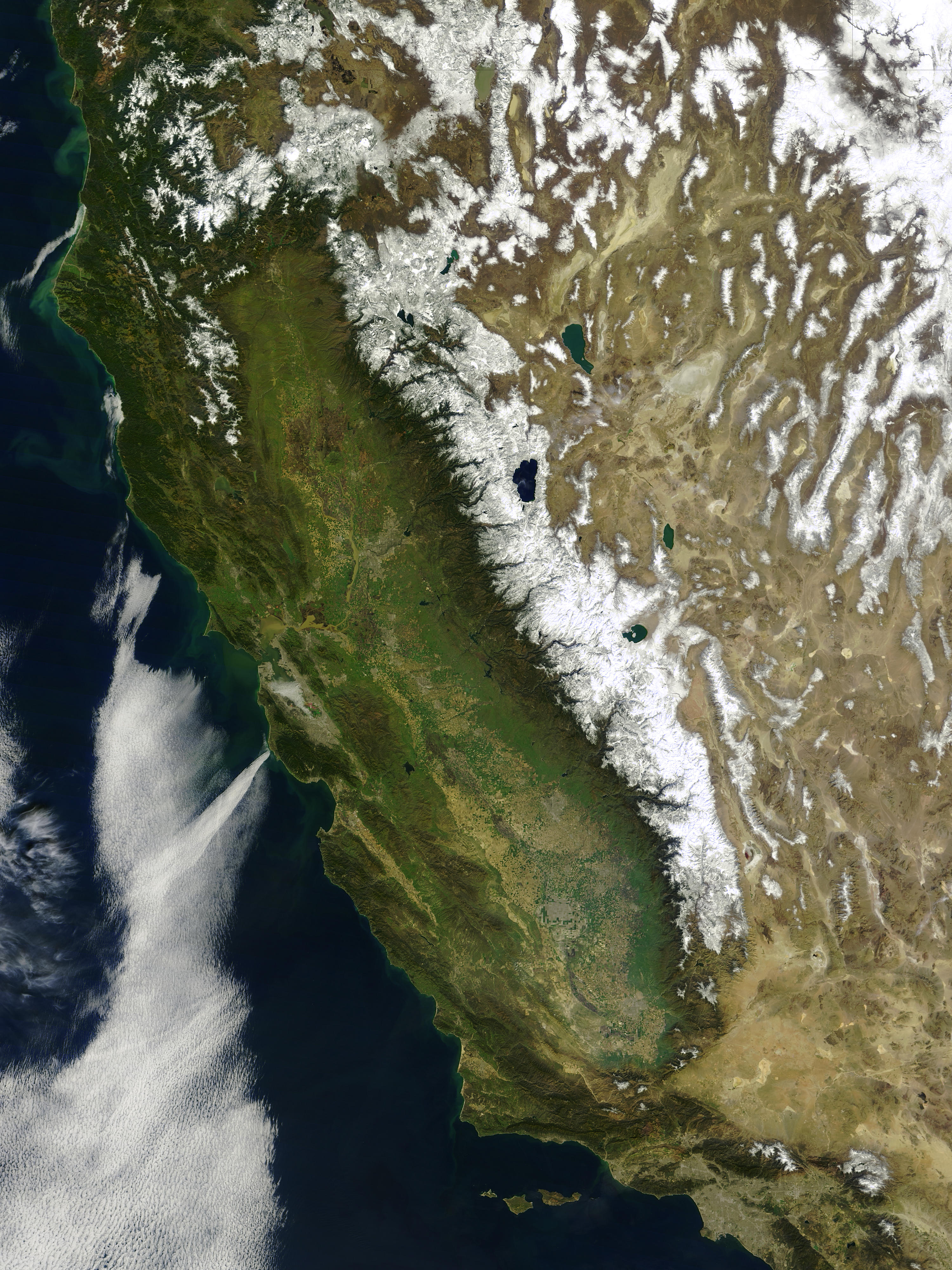 Snow and floods in California