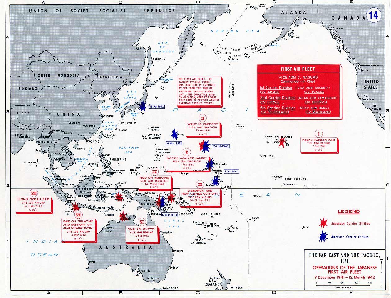 Operaciones de portaaviones japoneses 1941-42
