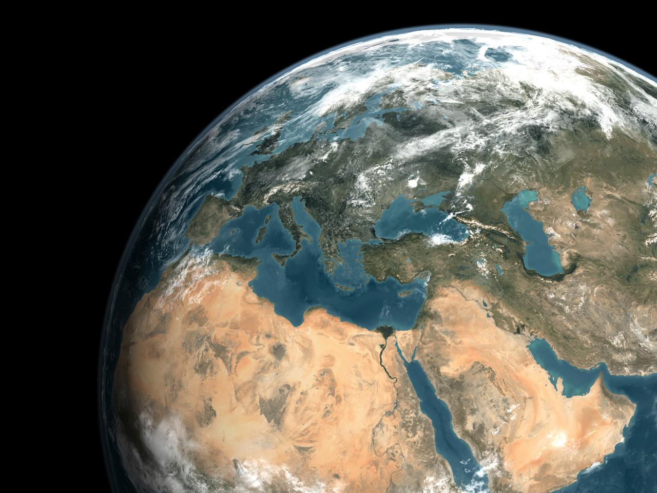Oriente Medio visto desde el espacio