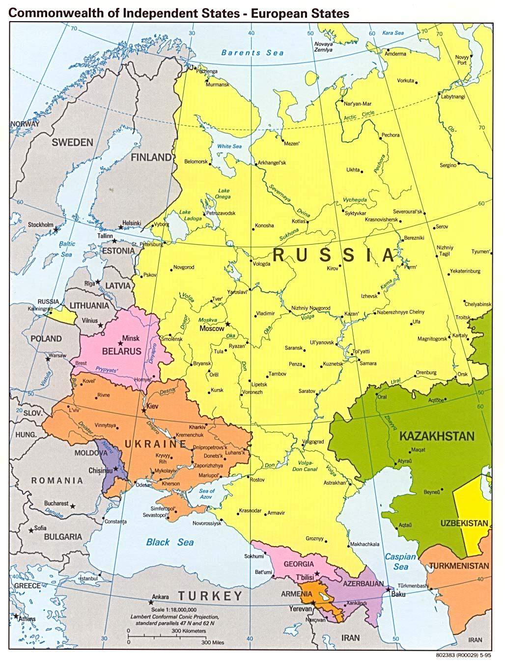 Países Europeos de la Comunidad de Estados Independientes 1995