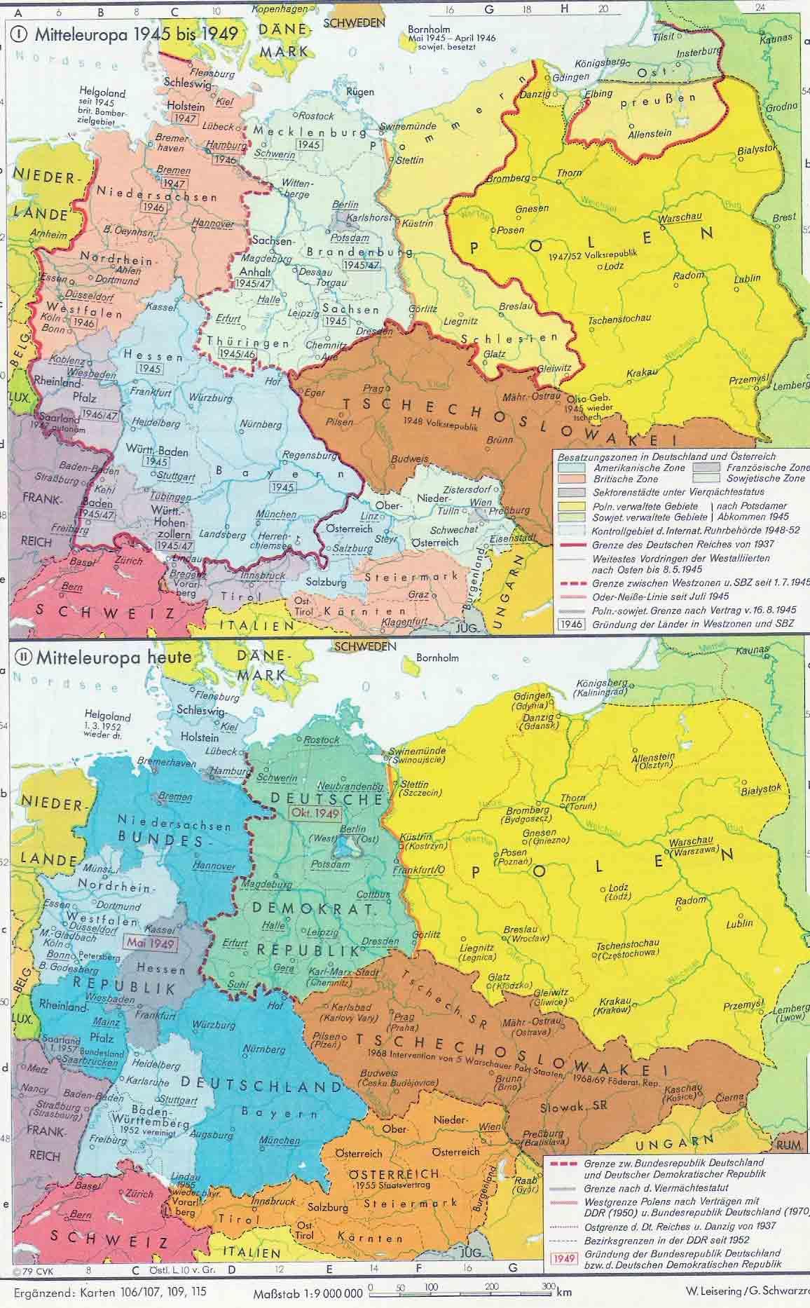 Países de Europa Central después de 1945