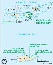 Parque Nacional Islas Vírgenes (Mapa Área)