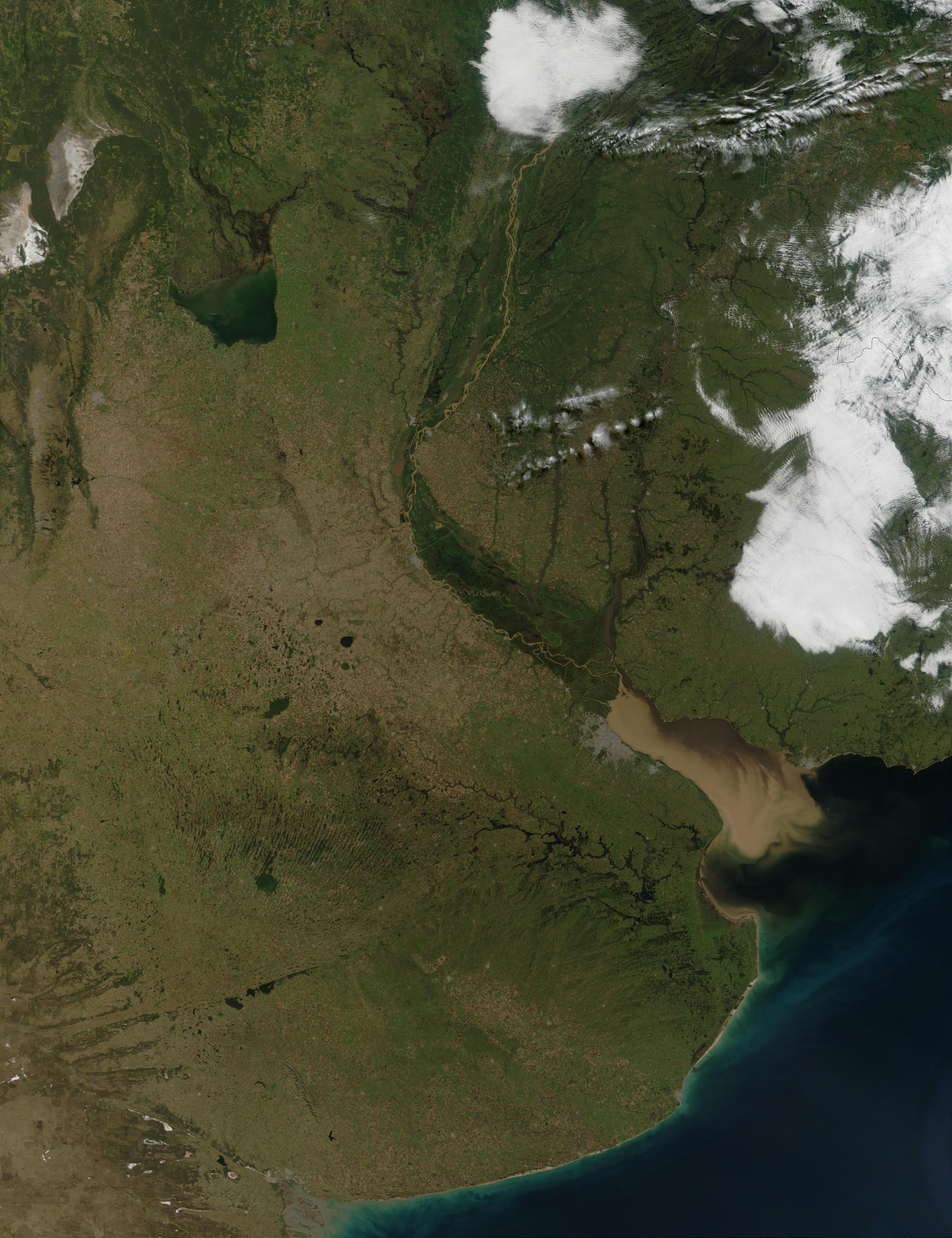 Parte Centro Este de Argentina y Sur de Uruguay
