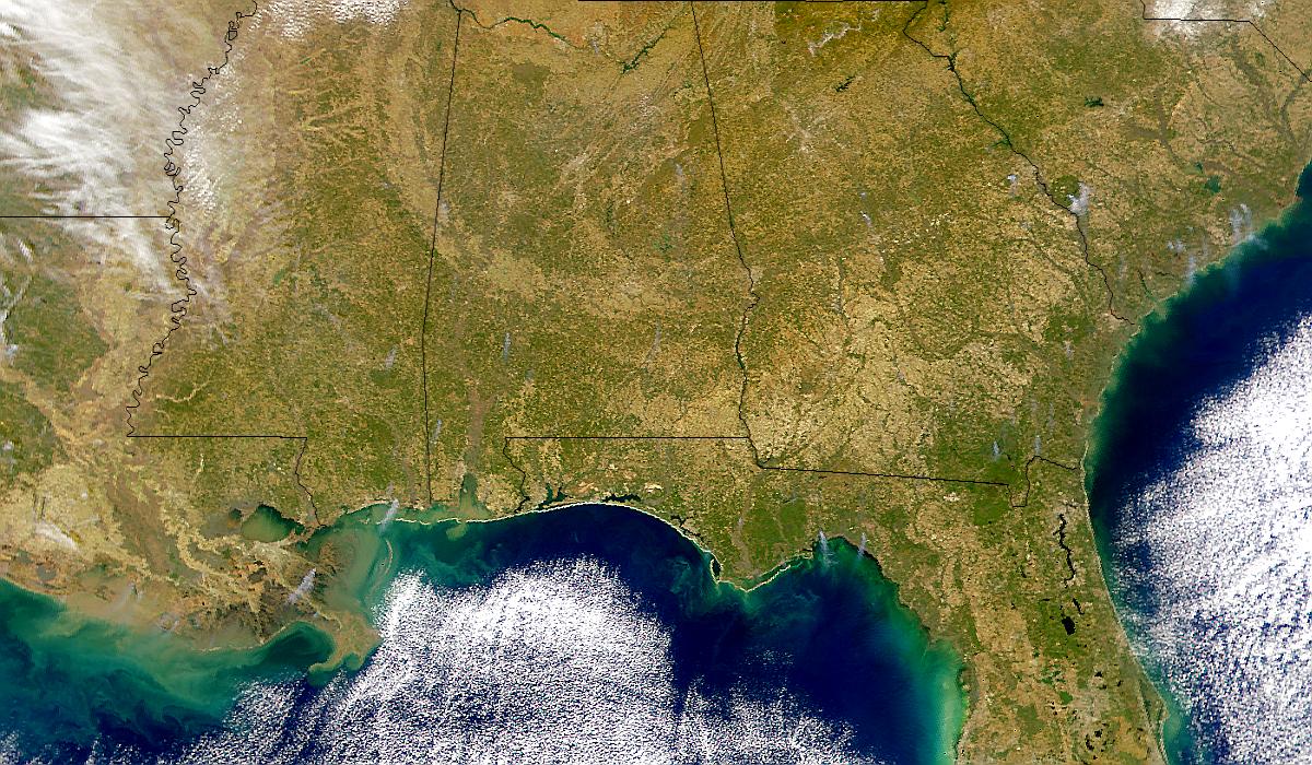 Southeastern U.S. Smoke Plumes