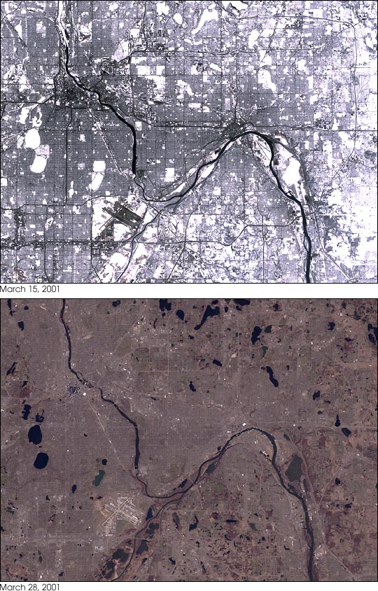 Persistent Snowcover Lead to Midwestern Floods