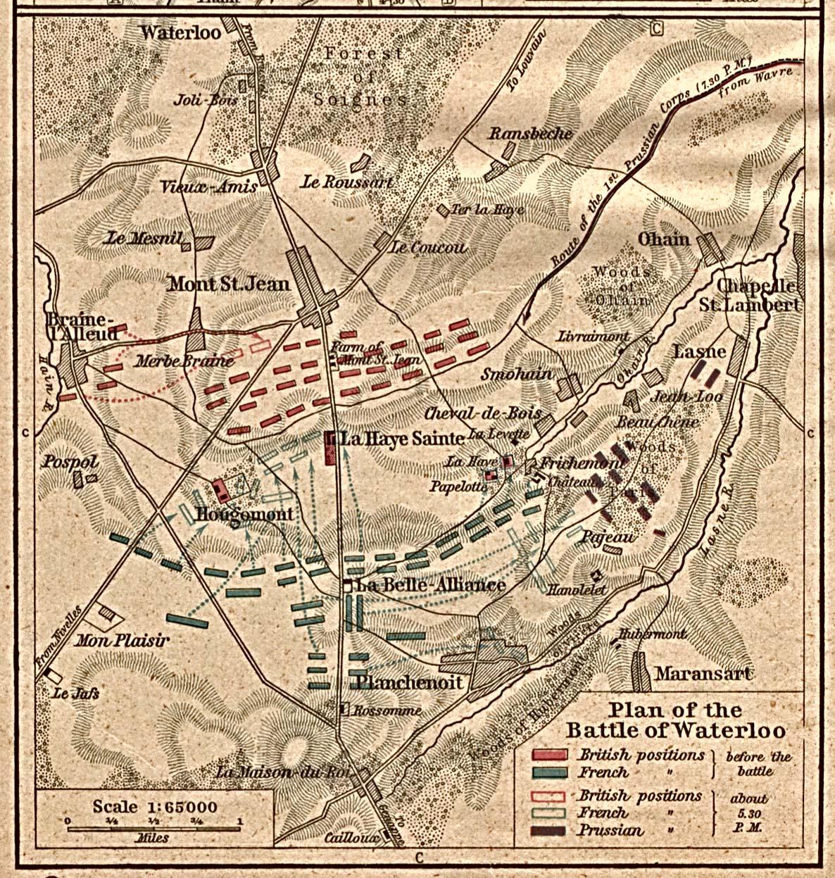 Plano de la Batalla de Waterloo