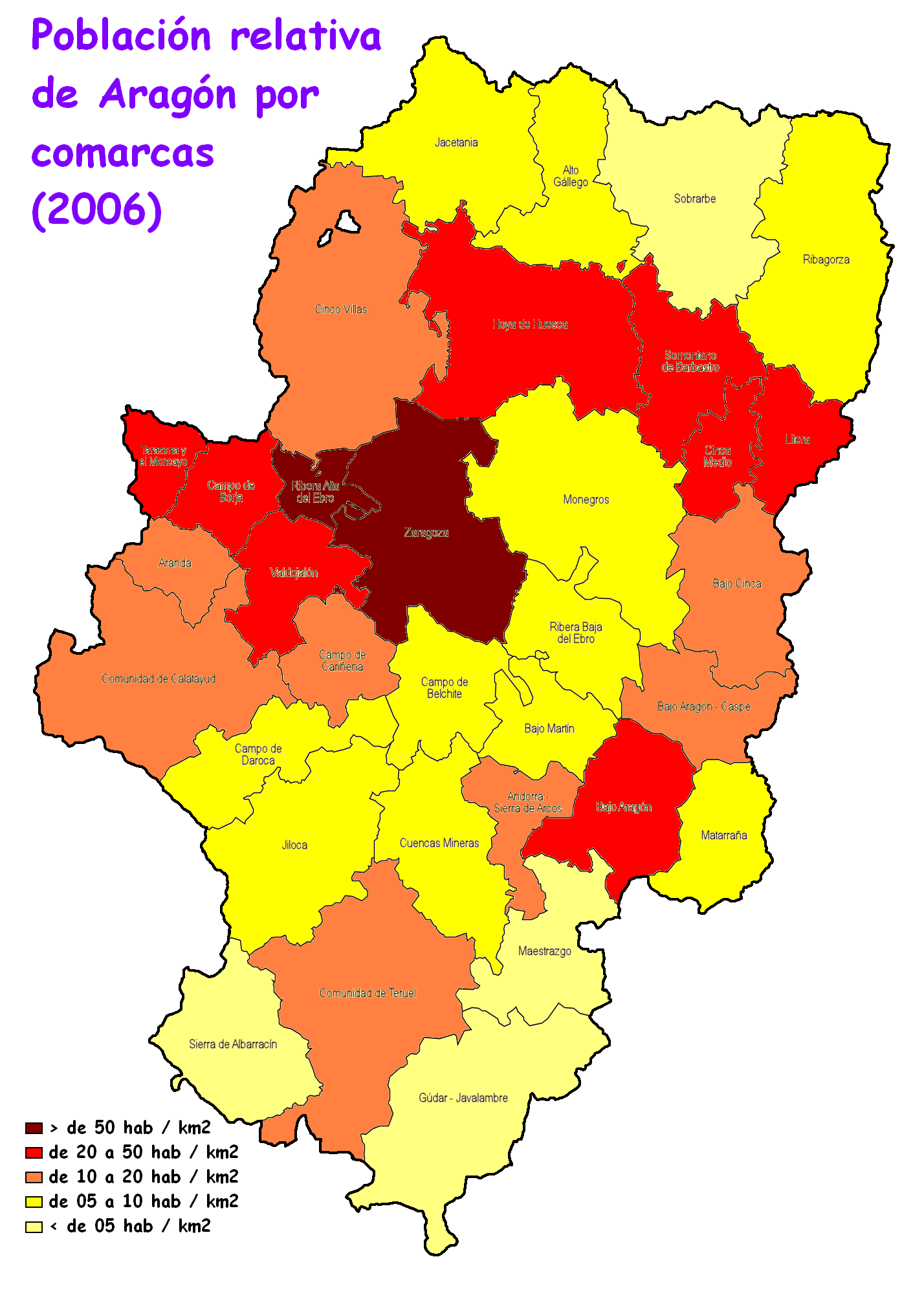 Población de Aragón 2006
