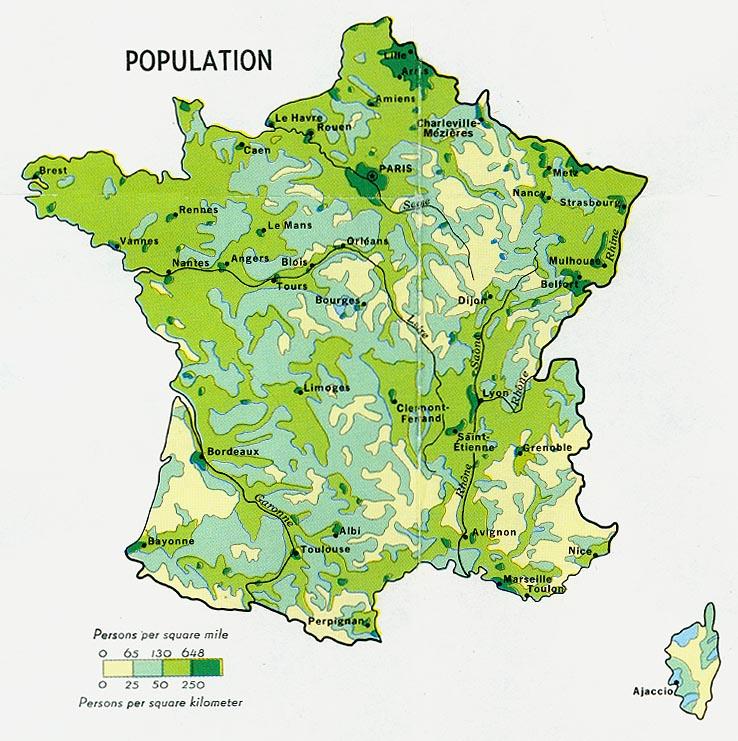Población de Francia 1972
