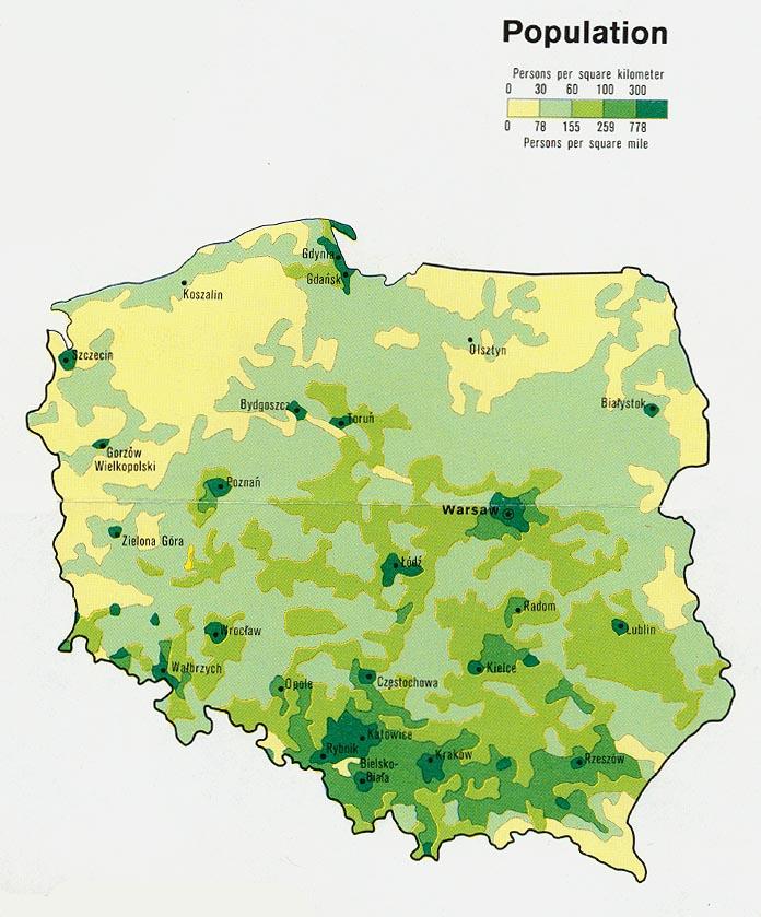 Población de Polonia 1977