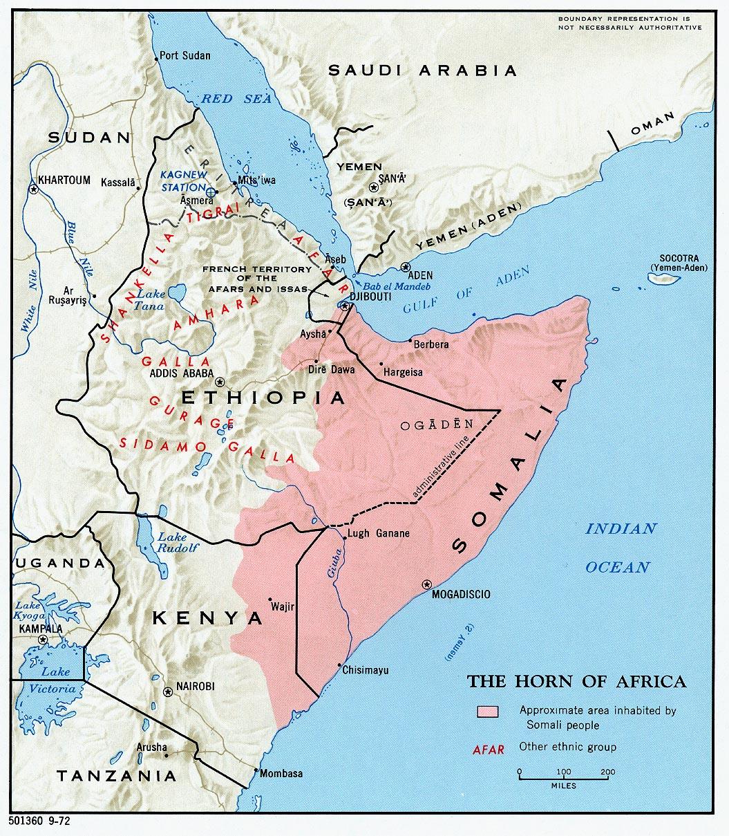 Población del Cuerno de África