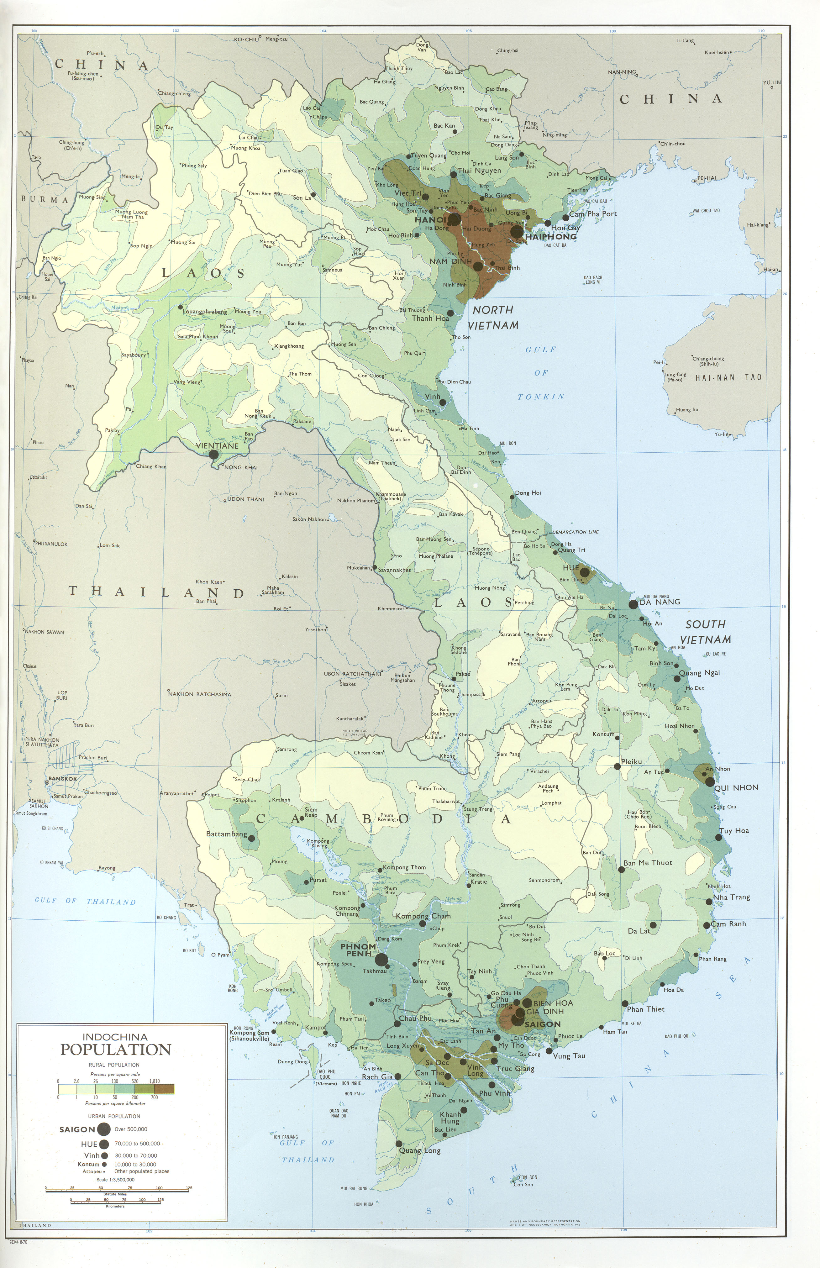Indochina Population Map, October
