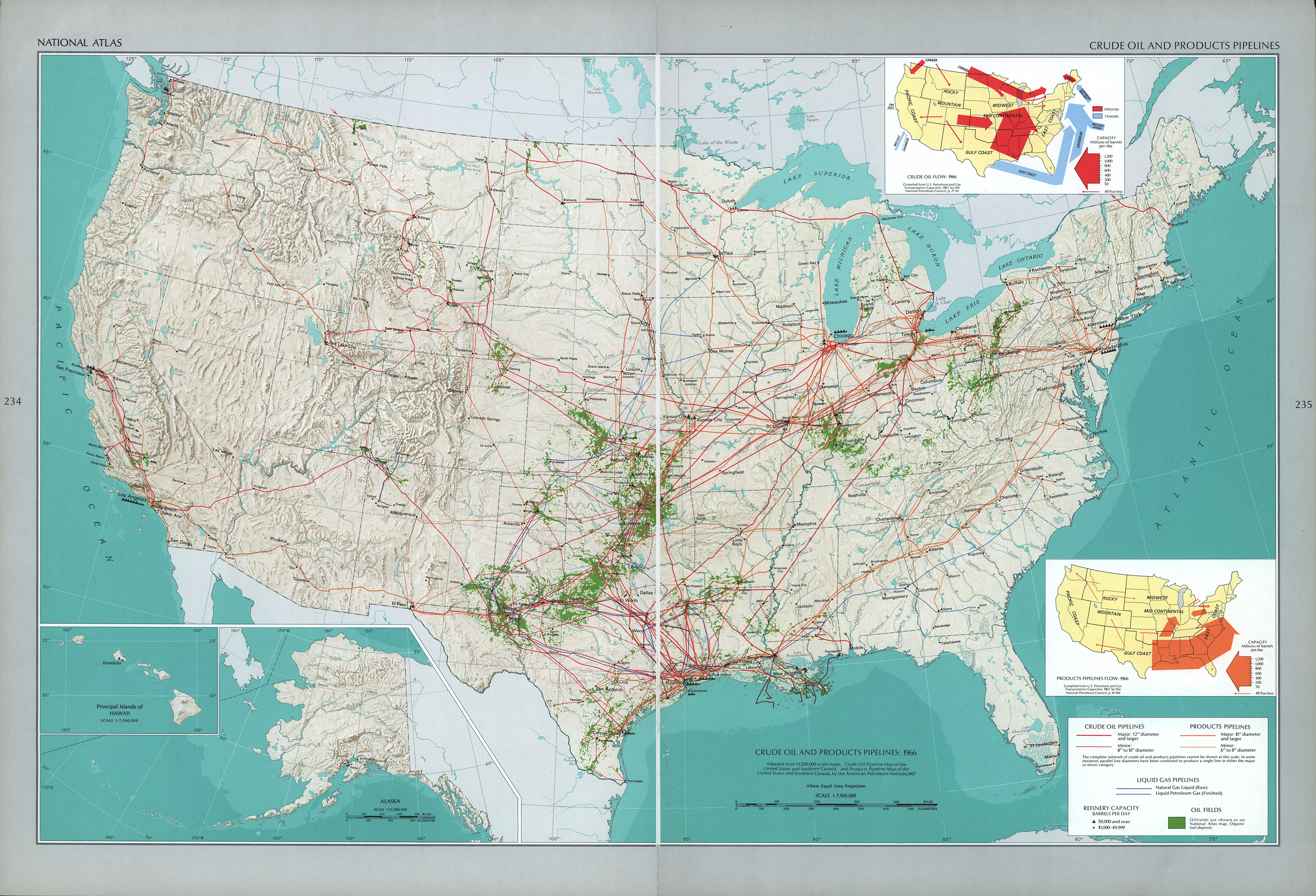 United States Crude Oil and Products Pipelines 1970
