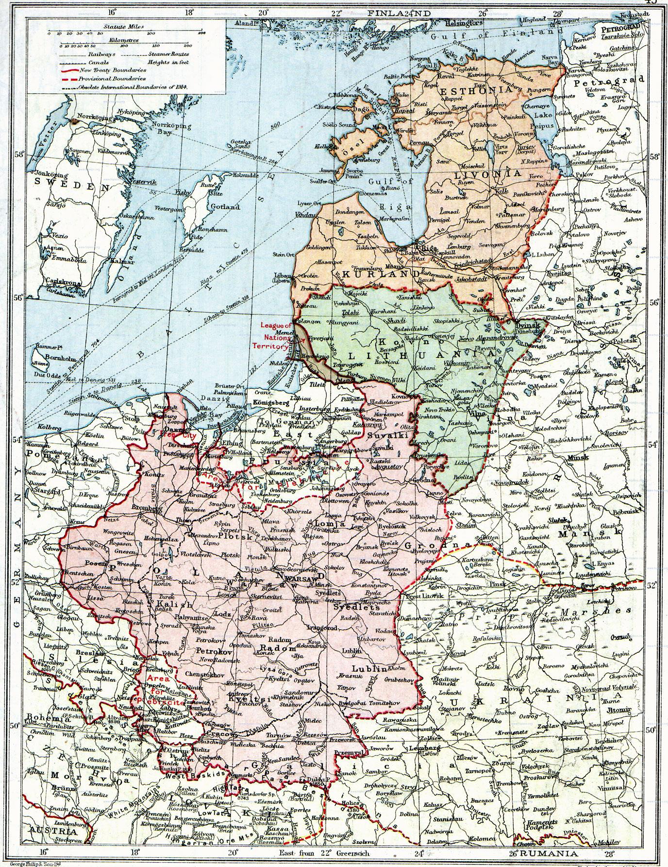 Polonia y los Nuevos Estados Bálticos 1920