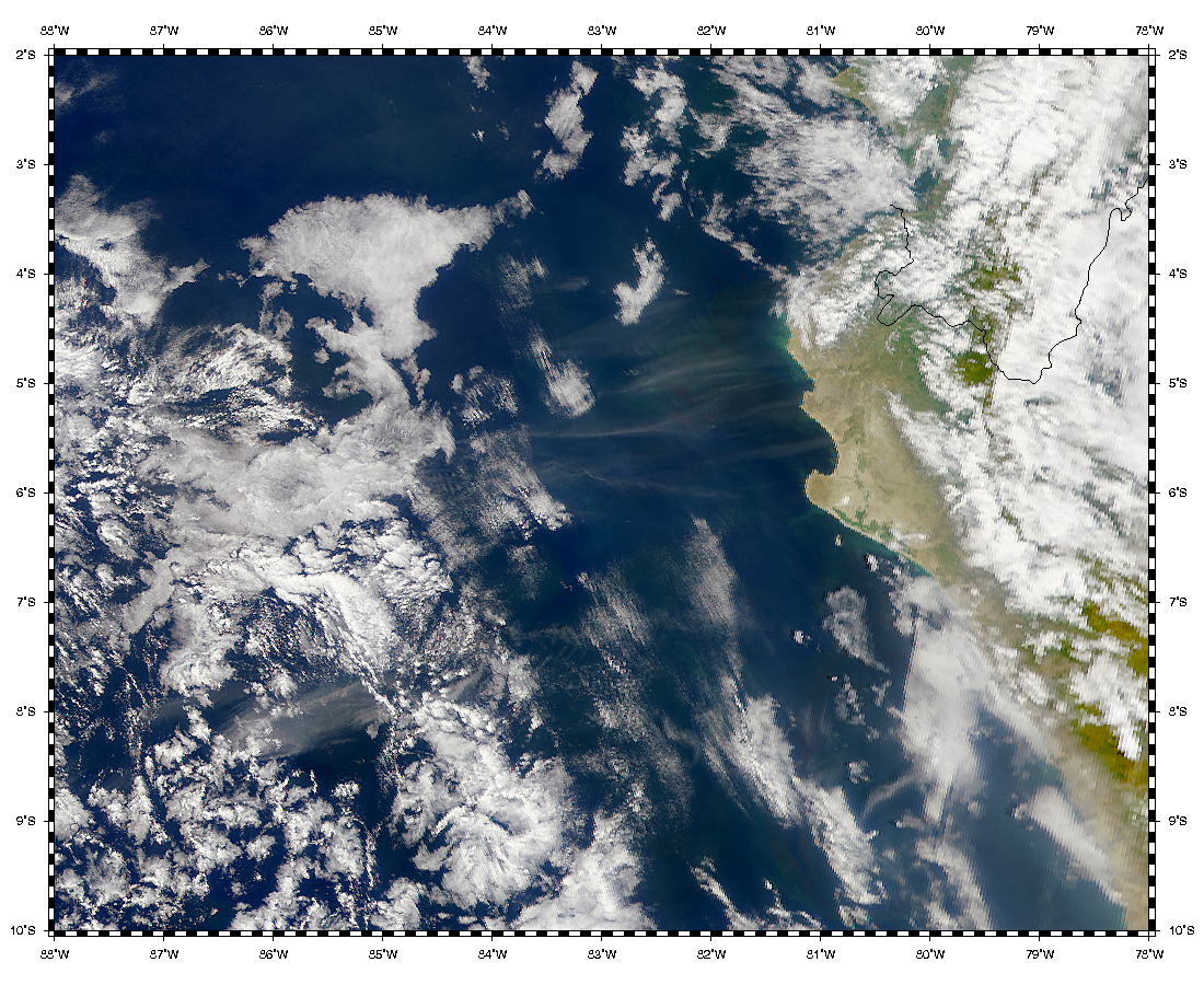 Polvareda en América del Sur