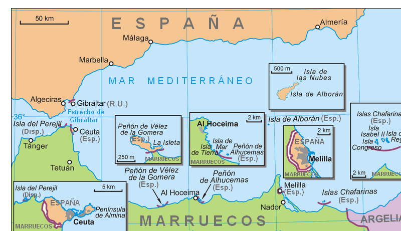 Spain's possessions in North Africa 2007