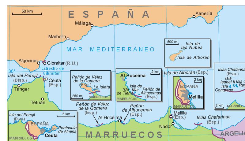 Posesiones de España en el norte de África 2007