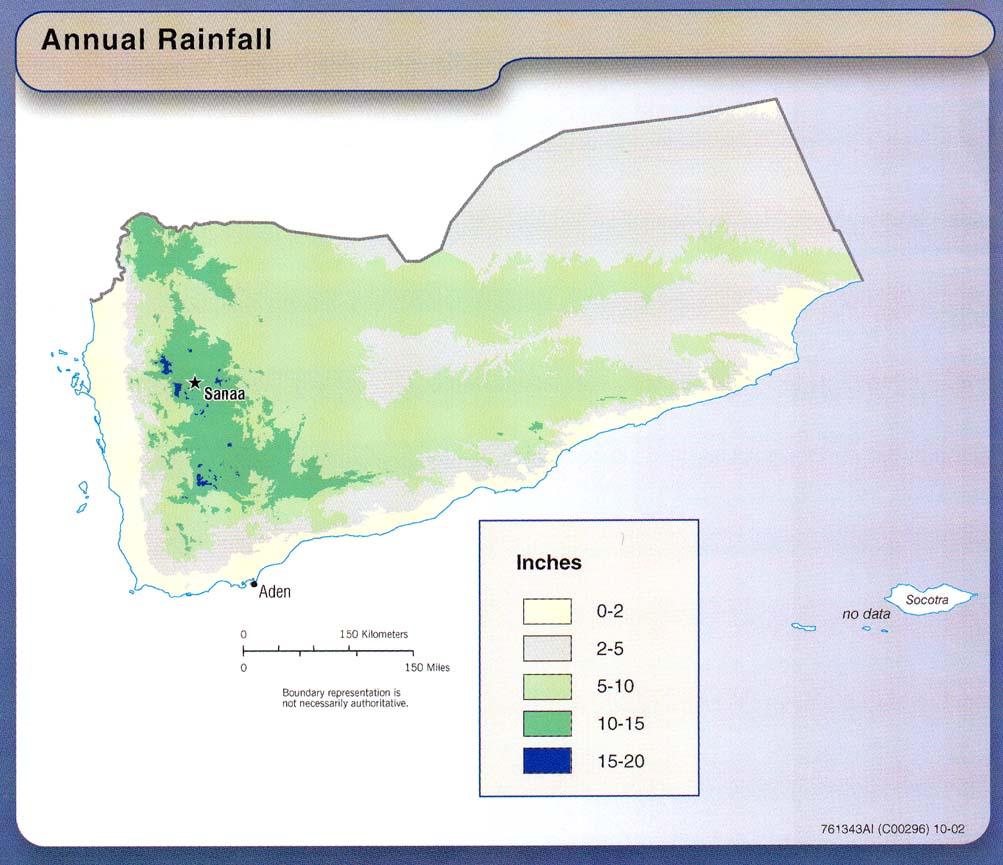 Precipitaciones Anuales de Yemen 2002