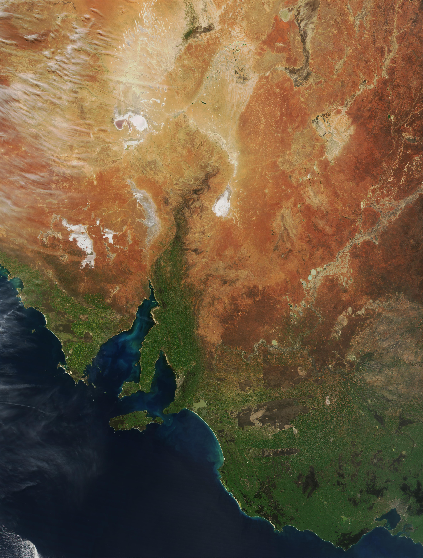 Proliferación de fitoplancton en el golfo de Spencer, Australia meridional