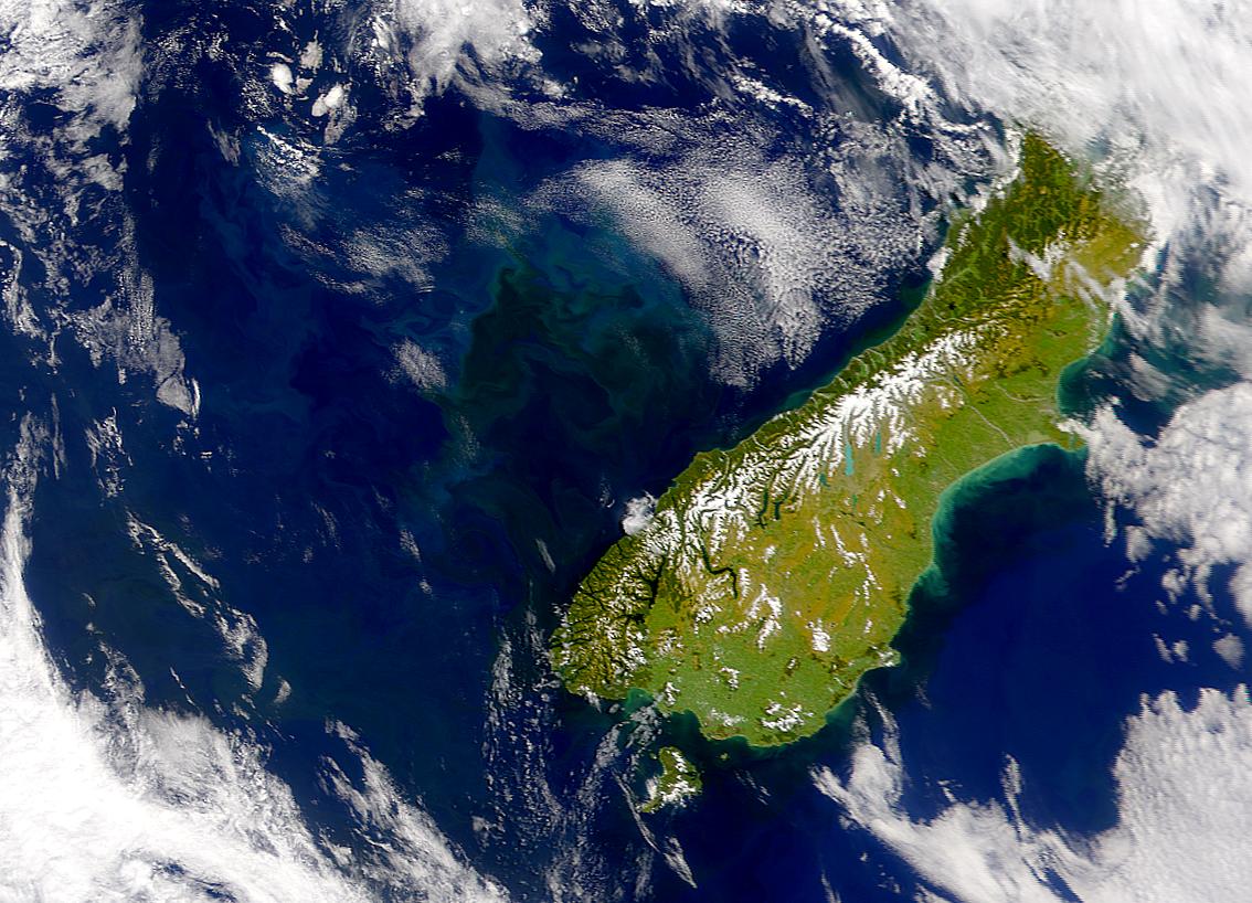 Proliferación en el Mar de Tasmania