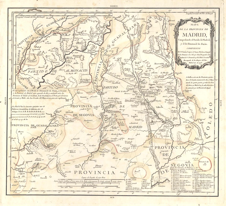 Province of Madrid 1773