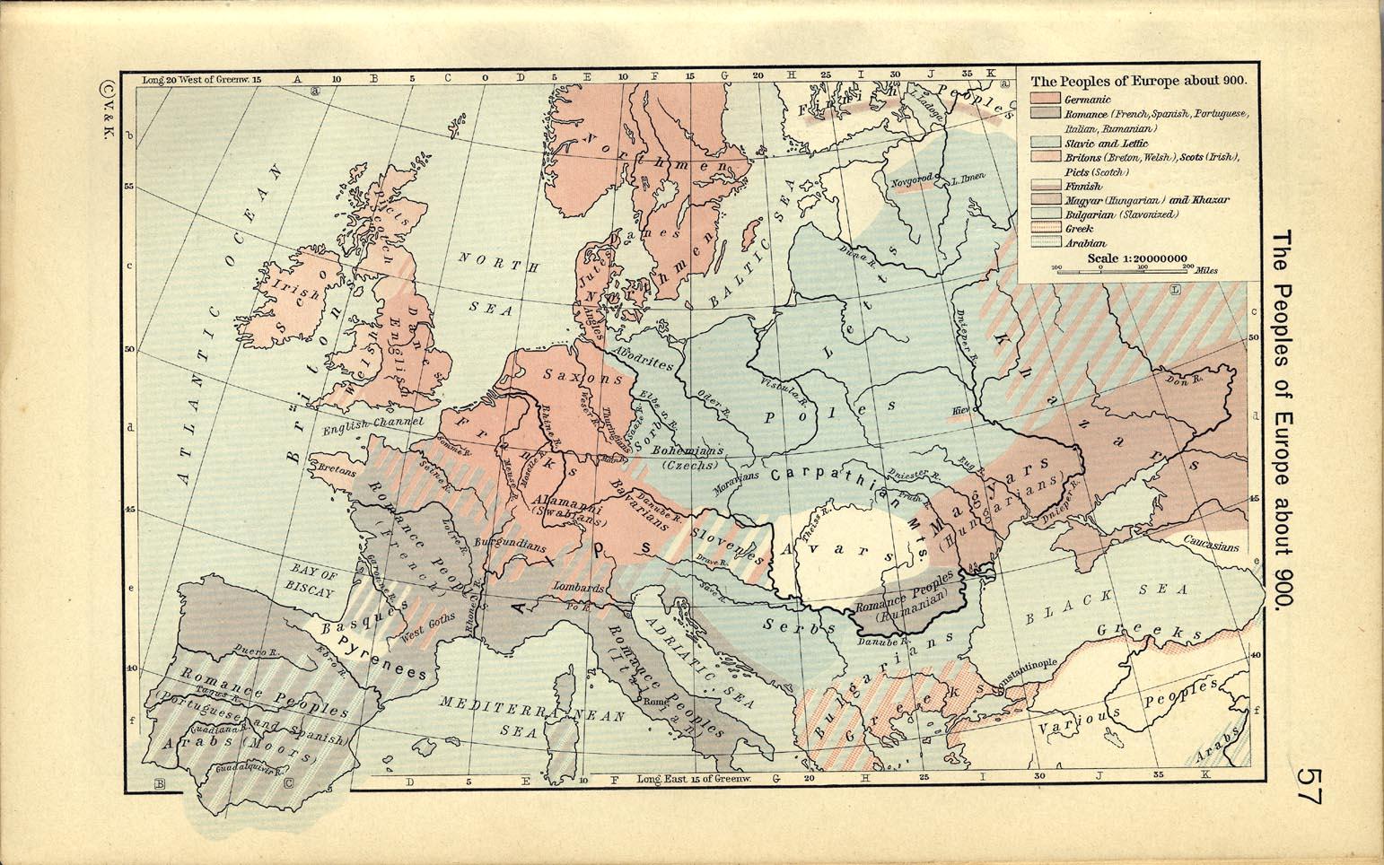 Pueblos de Europa circa 900