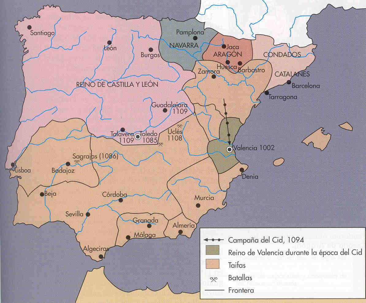 Reconquista o Conquista cristiana a comienzos del siglo XII