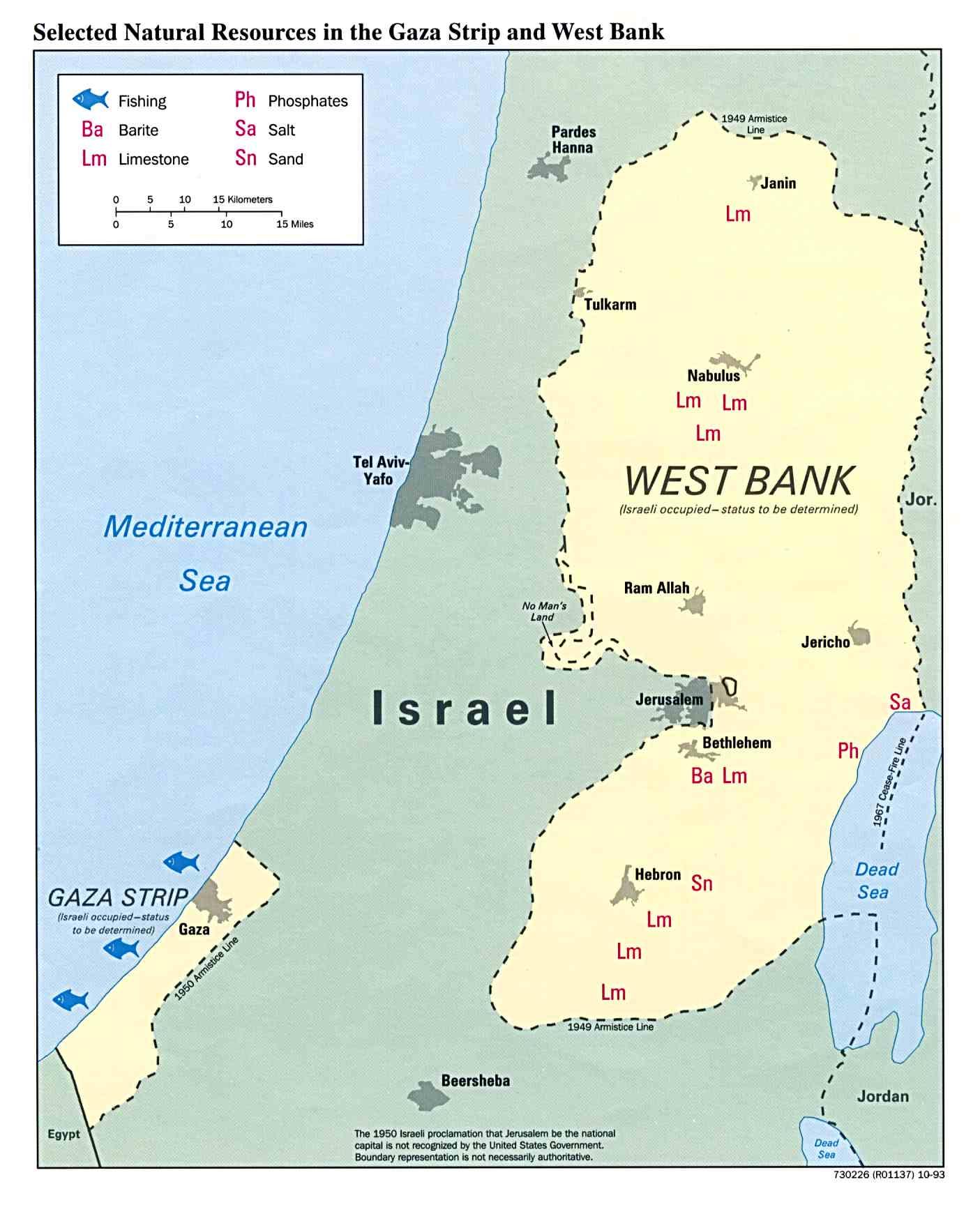 Recursos Naturales de la Franja de Gaza y de Cisjordania
