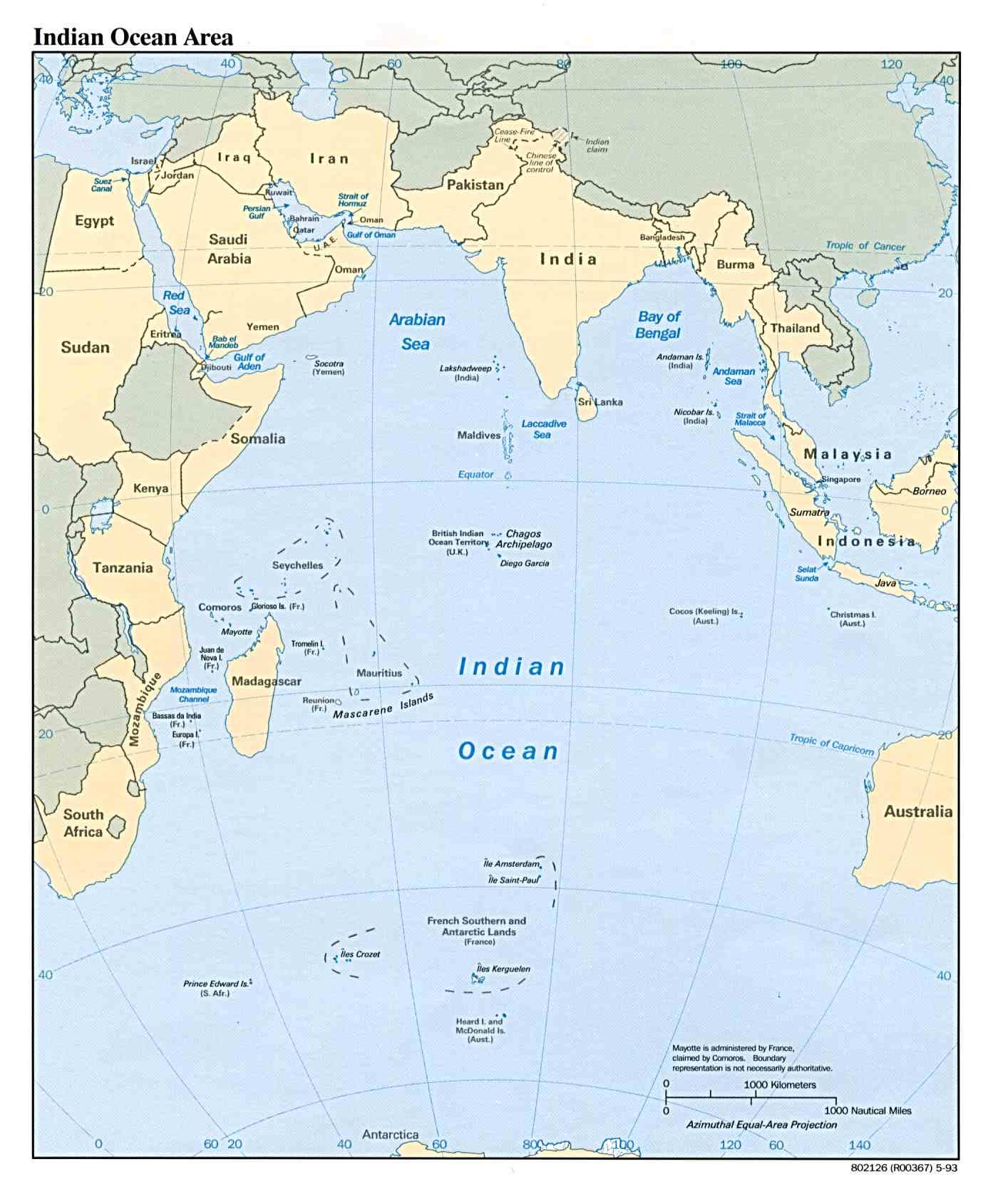 Región del Océano Índico 1993