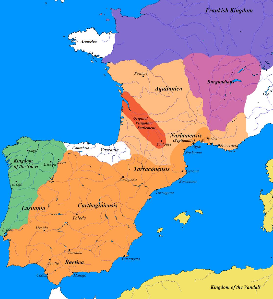 Reino Visigodo circa 500