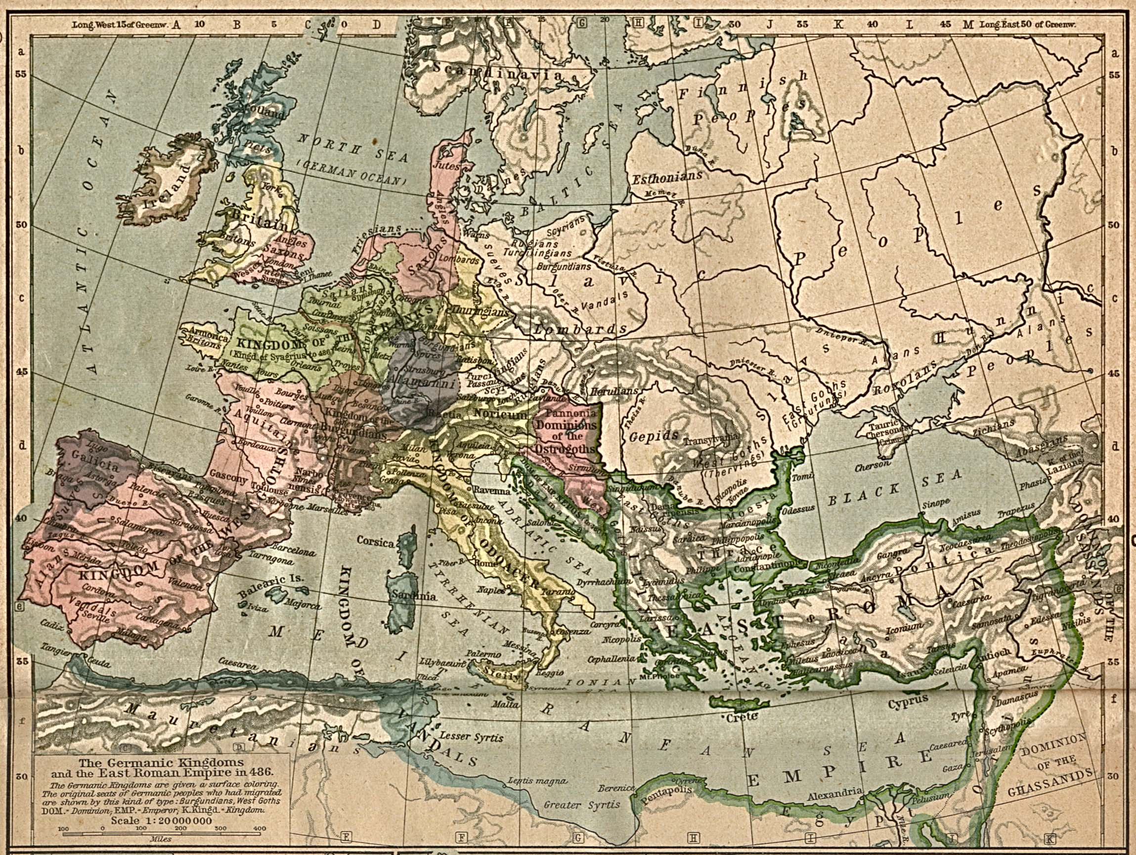 The Germanic Kingdoms and the East Roman Empire 486