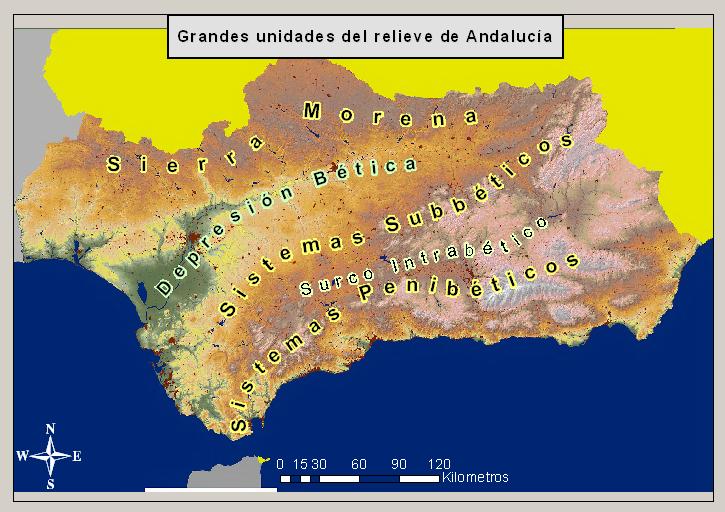 Relieve de Andalucía 2007