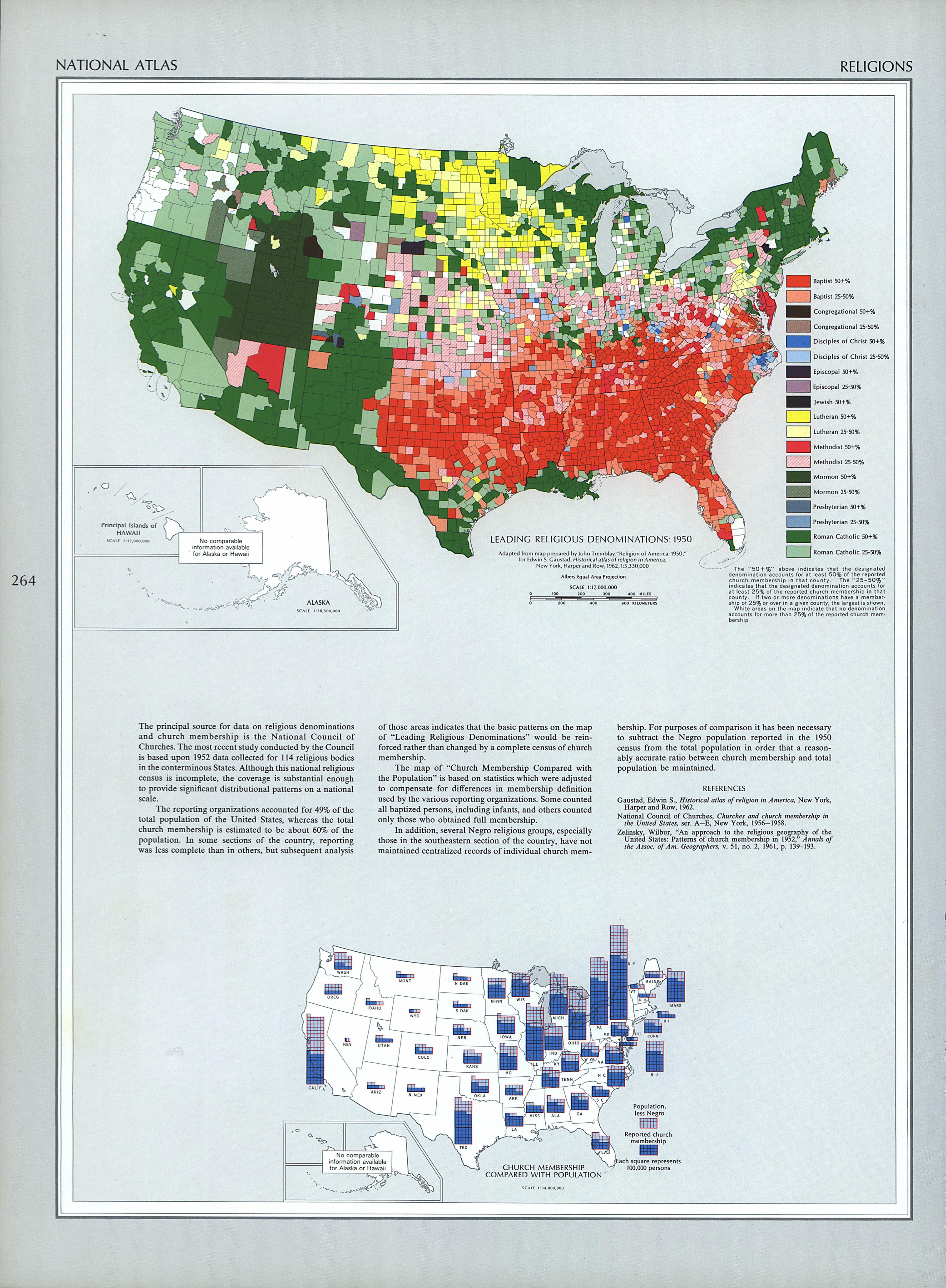 United States Religions 1970