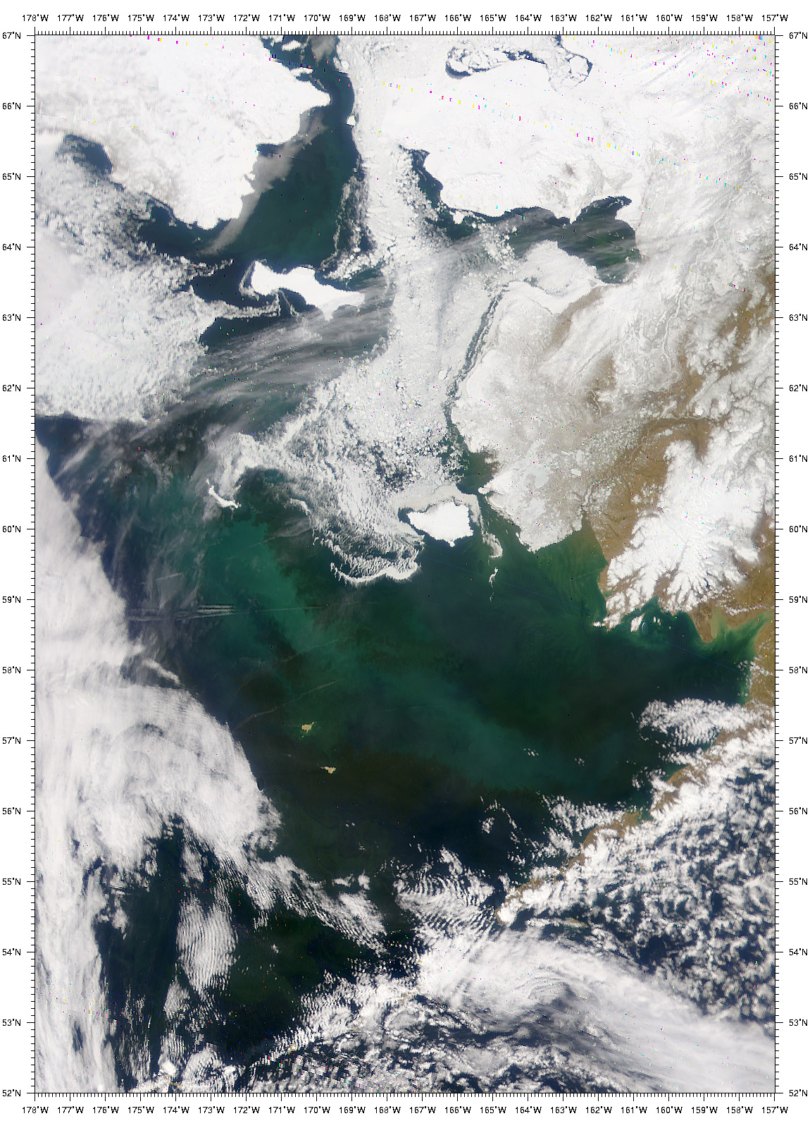 Swirls of Color in the Bering Sea