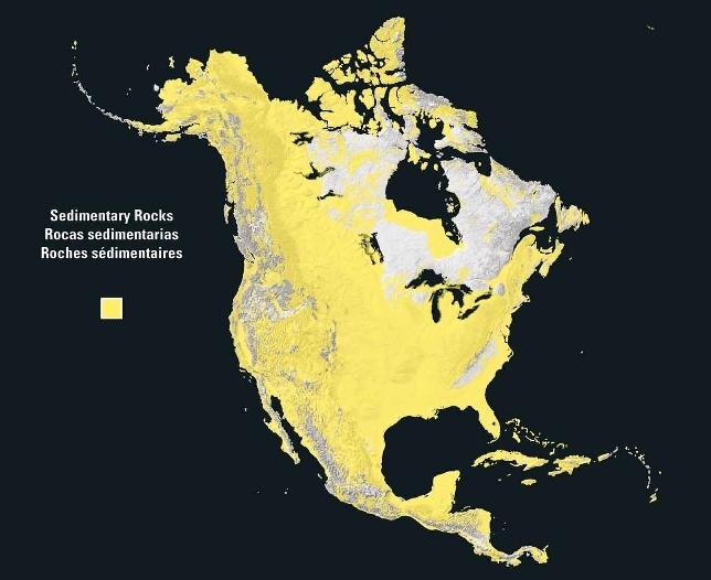 Rocas sedimentarias en Norteamérica 2003